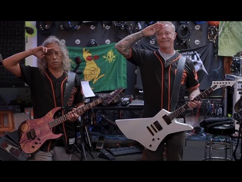 "Metallica perform ""The Star-Spangled Banner"" on livestream for Giants 'Metallica Night'"