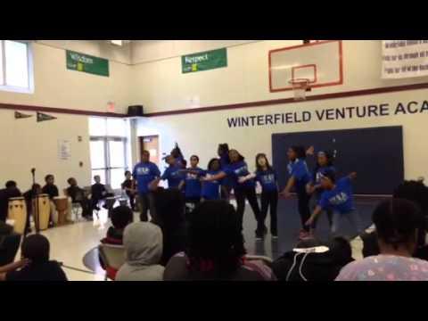 Winterfield Venture Academy Black history month performance