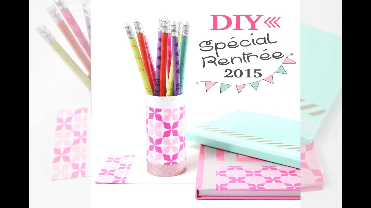 Diy back to school work personnaliser son mat riel de bureau youtube - Personnaliser son bureau windows 7 ...