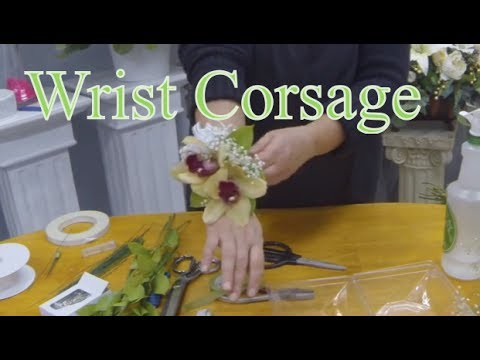 How to make a wrist corsage easy