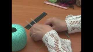 Вязание на вилке урок 1 - Hairpin Crochet lesson 1