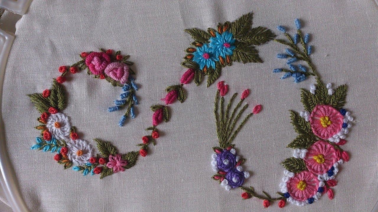 Hand embroidery designs Monogram alphabet S  YouTube