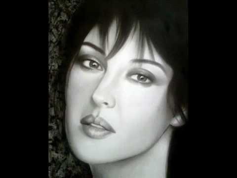 Pencil Sketches Of Faces 171 Nymph MoNiCa BelluCCi FACE
