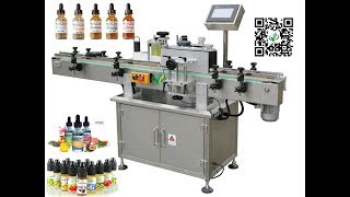 round bottle labelling machine transparent label with ribbon printing system labeller price
