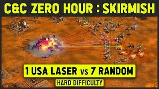 Command & Conquer: Generals Zero Hour - 1 vs 7 Hard Armies (Random)