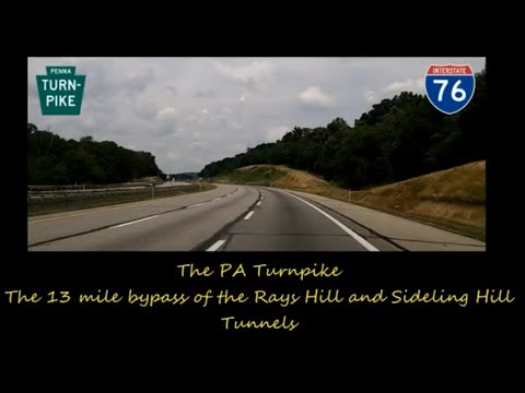 Interstate 76, the PA Turnpike - from Breezewood to the eastern end of the abandoned 1940's ROW.