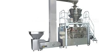 Automatic Dried Fruits Packing Machine Stand Up Pouch Nuts Filler Sealer Candies Doypack System