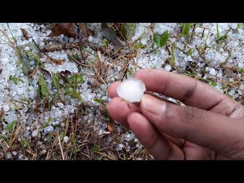 Heavy Rain n ice ball in Garo Hills
