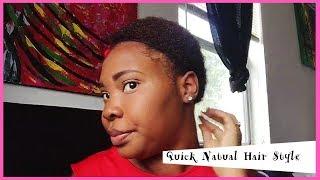 Quick Natural Hair Style  / Short TWA
