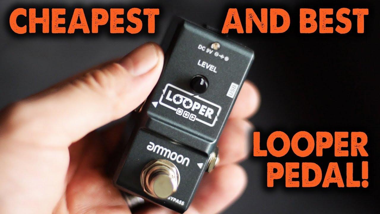 the best bargain looper pedal ammoon nano looper demo review youtube. Black Bedroom Furniture Sets. Home Design Ideas