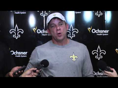 Coach Sean Payton talks about Saints rookies