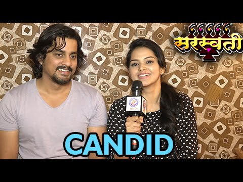 Sangram Salvi (Sarjerao) & Titiksha Tawde (Saraswati) Candid Chat | Saraswati Colors Marathi Serial
