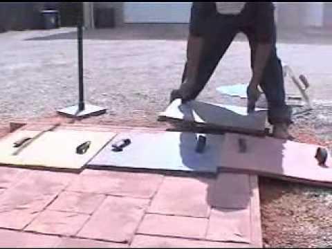 Concreto estampado rotec youtube for Moldes para pavimentos de hormigon
