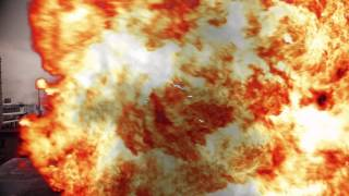 Ataque aéreo destruye laser (Element 3D/AE/Saber/Action essencial 2/Optical Flares)
