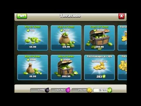 How to get Bonus Gems in Clash Of Clans!!!