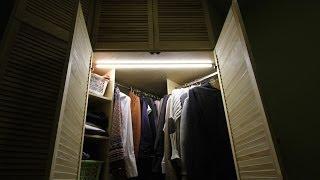 Освещаем шкаф светодиодной лентой в алюминиевом профиле своими руками(Обучающий видеоролик из цикла