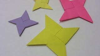 dIY : Оригами Сюрикен *** LEGO NINJAGO STAR *** Поделки из Бумаги