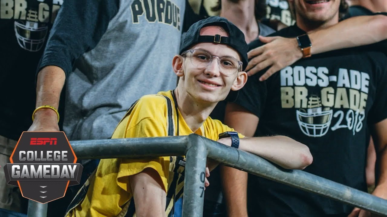 Purdue Boilermakers rally support behind one of their own, super-fan Tyler Trent | College GameDay