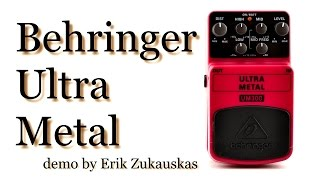 Behringer Ultra Metal UM300 Guitar Pedal Demo