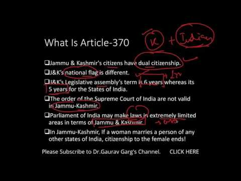 ARTICLE 370 in KASHMIR    BRILLIANT EXPLANATION  Pakistan has NO RIGHT ON KASHMI