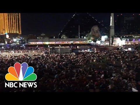 Witnesses Capture The Panic Of Las Vegas Shooting   NBC News