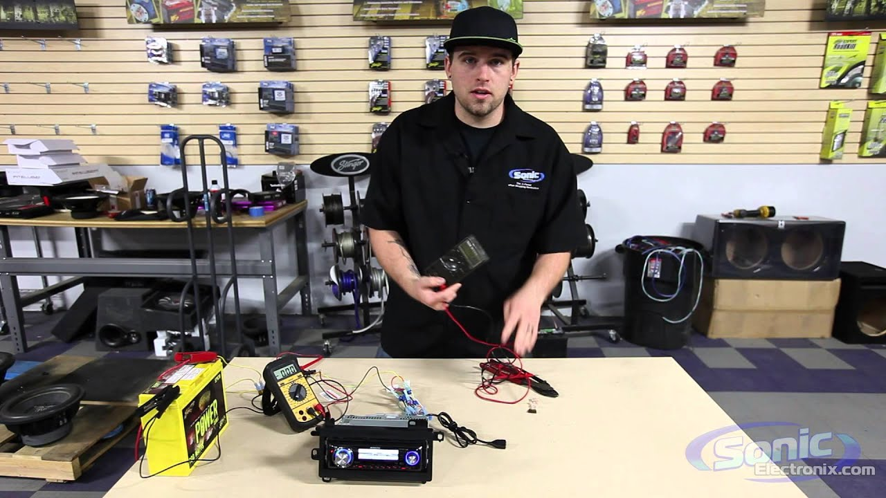 maxresdefault how to use a digital multimeter (checking voltage) car audio 101 how to check wiring harness with multimeter at eliteediting.co
