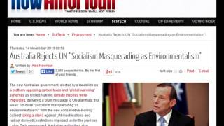 "Australia Rejects UN ""Socialism Masquerading as Environmentalism"""
