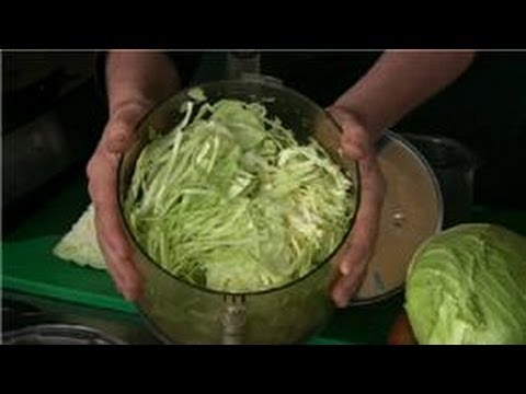 kitchen aid attachments calphalon towels cabbage recipes : how to chop for coleslaw in a ...
