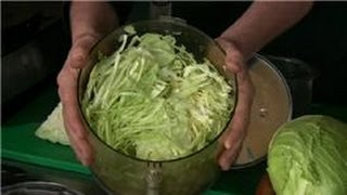 Cabbage Recipes : How To Chop Cabbage For Coleslaw In A Food Processor