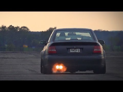 Audi RS4 B5 2.7 Bi-Turbo Anti Lag Launch Acceleration & Sound