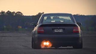 Audi RS4 B5 2.7 Bi-Turbo Anti Lag Launch Acceleration & Sound