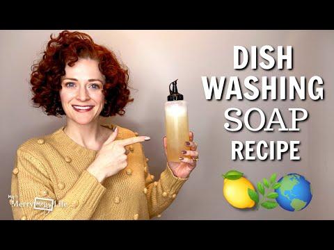 DIY Natural Dishwashing Soap Recipe Demo - Nontoxic, Safe, Chemical-Free (Liquid Dish Soap)