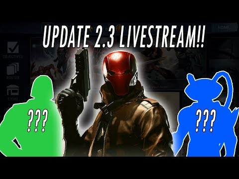 NEW UPDATE 2.3.1!!! NETHERREALM LIVESTREAM!! RED HOOD! NINJA ROBIN & CATWOMAN INJUSTICE 2 MOBILE