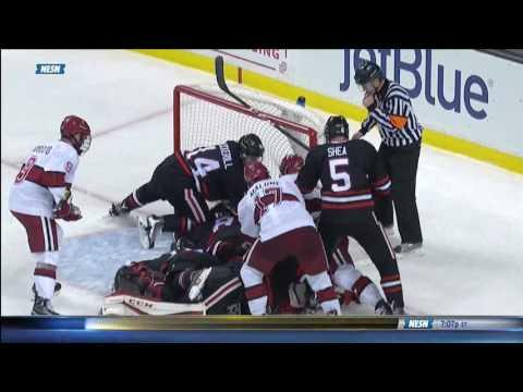 Northeastern vs. Harvard - Beanpot Goal Highlights - 02/06/2017