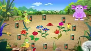 Лунтик с гусеницами выращивает цветы, математика для малышей, обучение цифрам Лунтик игры