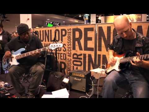 Live From NAMM 2013: Oz Noy & Darryl Jones At The Dunlop Booth