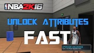 Nba2k16| How to get Attribute Points Fast| Tutorial!!