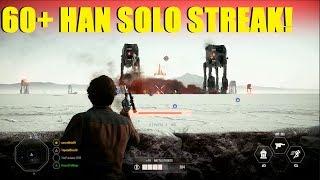 Star Wars Battlefront 2 - HAN SOLO Savior of Crait! | 60+ Solo killstreak!