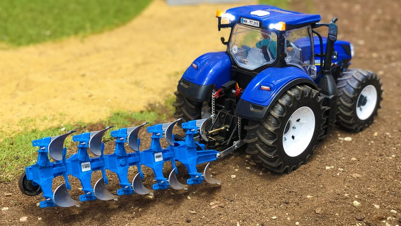 BRUDER TOYS tractor farm action | Tractor plowing | Video for kids
