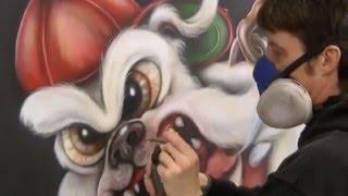 uga bulldog mural georgia
