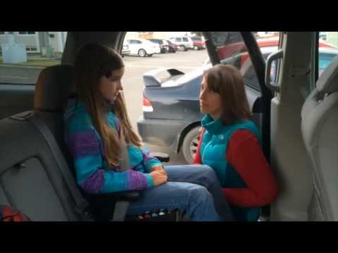 Buckling a Child in a Booster Seat