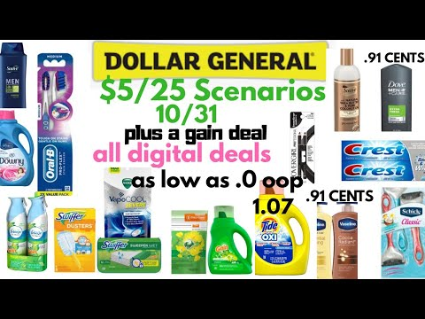 Dollar General $5 Off $25 Scenarios For 10/31 As Low As FREE