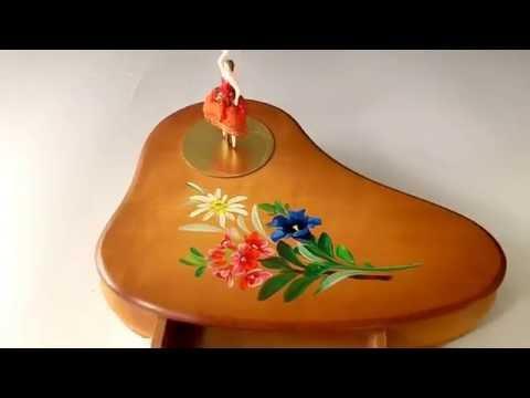 VINTAGE DANCING BALLERINA WIND UP MUSIC BOX JEWELRY CASE