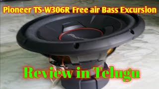 Pioneer TS-W306R Subwoofer free air bass excursion