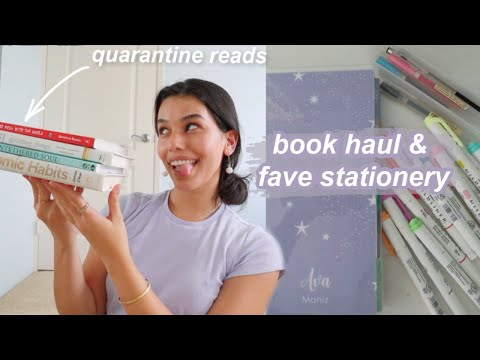this quarantine is changing me… book haul & my favorite stationery