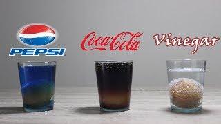 EXPERIMENT = 168 Hours Pepsi , Coca Cola , Vinegar VS Egg