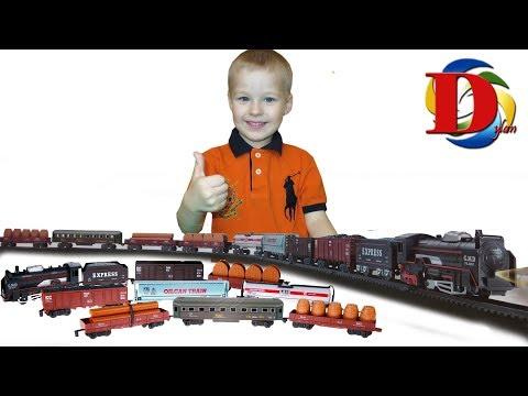 Железная дорога Мультик про Машинки Виды железнодорожного транспорта Поезд Паровозик Обзор игрушки