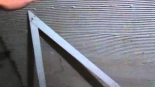 Формирование угла 90° при оштукатуривании стен. Краснодар.