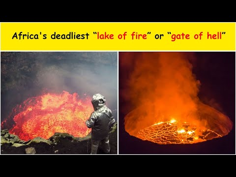 Africa's deadliest 'lake of fire' which locals call the 'gate of hell'   Mount Nyiragongo