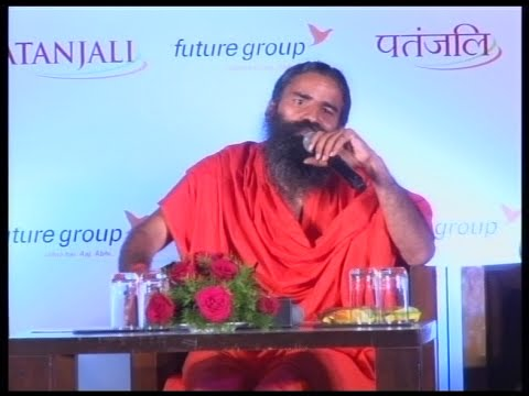 Patanjali Ayurveda Partners with Future Group (Big Bazaar) | 12 Oct 2015 (Part 2)